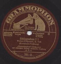 Alexander Flessburg 1933 mit Grammmophon Orchester : Schlagsahne !!!