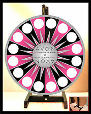 "Prize Wheel 18"" Spinning Tabletop Portable Avon Starburst silver center"