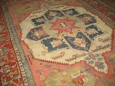 Antique 19th Century Most Beautiful Persian Heriz Serapi Rug Size 11'3''x15'