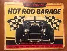 Tin Sign Vintage Hot Rod Garage