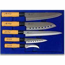 GOLDSUN Sashimi Sushi Kitchen Knife5 Set Stainless Steel Japanese Chef Knives