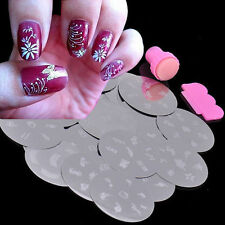 10 Pcs Nail Art Stamping Images Metal Plates Kit 70 Mixed Designs Stamp Scraper