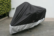 Honda Goldwing 1800 motorcycle cover SS500  in Black. Fits up to 108""