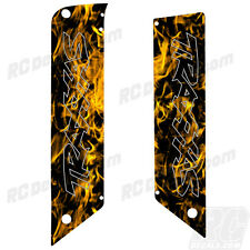Traxxas E-Maxx - Chassis Plate Protector Kit - MotoCross Vinyl - Yellow Flames