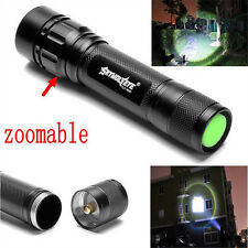 Focus 4000 LM 3 Mode CREE XM-L T6 LED 18650 Zoomable Flashlight Zoom Lamp