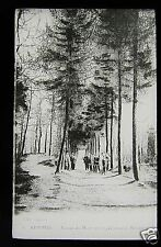 Glass Magic lantern slide KEMMEL AVENUE DU MONT CIRCA WW1