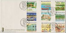 SINGAPORE 1990 TOURISM SERIES low values 5c - 75c FDC @JD723