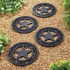 Set of 4 Texas Lone Star Rubber Outdoor Garden Stepping Stones