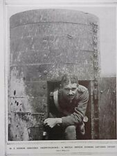 1917 BRITISH OFFICER IN A CAPTURED GERMAN ARMOURED OBSERVATION BOX WWI WW1