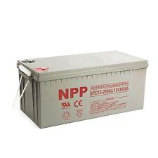 NPP 12V 200 Amp 12 Volt 200Ah AGM Deep Cycle Wind Solar Sealed Lead Acid Battery