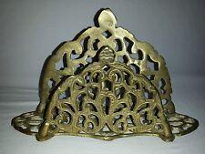Vintage Brass Ornate Desk Letter, Mail Organizer or Napkin Holder S