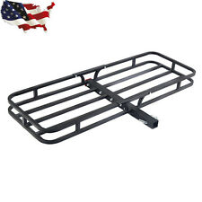 "500LBS Steel Cargo Carrier Luggage Basket 2"" Receiver Hitch Hauler Car Truck"