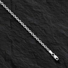 """14k White Gold Cable Link Pendant Chain/Necklace 28"""" 3.1 mm 16 grams WCAB080"""