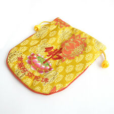 Polyester Cloth Embroidery Tibet Buddhist Buddha Monk's Drawstring Bag
