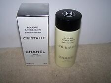 VINTAGE CHANEL CRISTALLE POUDRE APRES BAIN BATH POWDER 5 OZ BOTTLE *OPENED*