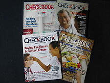 Delaware Valley Consumer's Checkbook Magazine Set of 4 2009/2011- Incl. Shipping