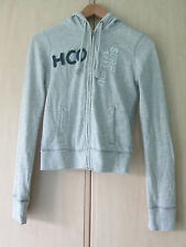 ladies HOLLISTER LIGHT GREY COTTON HOODIE SIZE SMALL