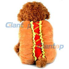 Cute Hot Dog Novelty Joke Funny Pet Dog Puppy Animal Fancy Dress Costume Outfit