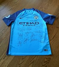 Squad Signed Manchester City 2016/17 Home Shirt ~ Genuine Autographs & COA
