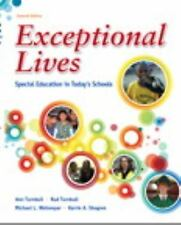 Exceptional Lives: Special Education in Today's Schools Turnbull 7th Ed Free S/H