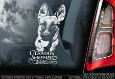 German Shepherd - Car Window Sticker - Dog Sign -V04