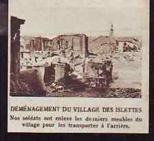 1916  --  DEMENAGEMENT DU VILLAGE DES ISLETTES H184