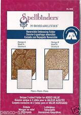 Spellbinders M-Bossabilities Reversible Embossing Folder Flora EL-009