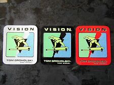 VISION Tom Groholski Pro Model team skateboard vintage 1987 sticker set of 3