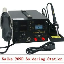 SAIKE 909D 3 in 1 Rework Solder Station Hot Air Gun Soldering iron Power Supply