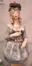 """RARE 10.5"""" Corday half doll marked / good fingers / some lace damage /"""