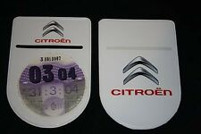 CITROEN C2 TAX DISC HOLDER - Self-Adhesive with Double Sided Logo!