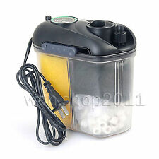 Genuine BOYU Aquarium Fish Tank Mini External Filter Canister + Sponge, Carbon..