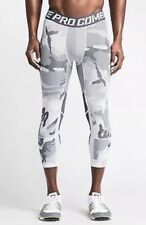 NIKE Pro Combat Hypercool 3/4 Length Tights White Camo - Medium - NWT