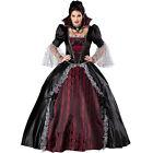 Adult Womens Queen Of The Vampires costume gothic Deluxe dress halloween cosplay