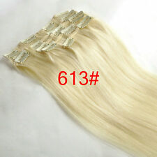 Full Head Clip in Remy Extensions 100% Human Hair Full Head 15''18''20''24''28''