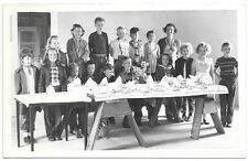 RP Postcard Large Group of Children at a Party in Rainbow, California~105198