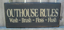 PRIMITIVE COUNTRY OUTHOUSE SIGN