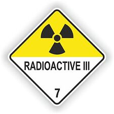 Sticker Radioactive III #03 Logo Sign Laptop Door Truck Car Motorcycle Helmet