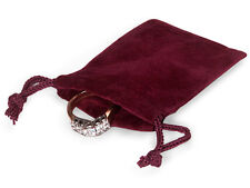100 WINE 2x2 Jewelry Pouches Velour Velvet Gift Bags
