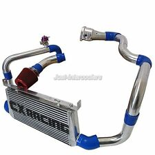 CX 22x11x3 Intercooler Kit Intake Pipe Filter For 86-91 Mazda RX7 RX-7 FC FC3S