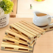 Wooden Beverage Pallets Mini Pallet Coasters Cup Mug Mat For Bar Kitchen Dining