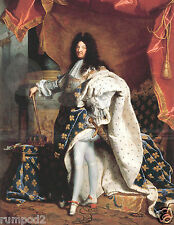 Vintage painting/ Rigaud,Hyacinthe(1659-1743)-The Portrait of Louis XIV/Poster