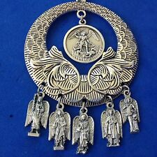 Custom Religious Catholic Saint Medal NECKLACE 4 ARCHANGEL St Michael Raphael 2