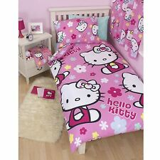 HELLO KITTY SINGLE DUVET COVER SET REVERSIBLE DESIGN