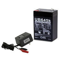 UPG 6V 4.5AH SLA Battery replacement for Modifiedpowerwheels and a Charger