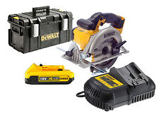 DEWALT DCS391 al Litio Ion CIRCOLARE SAW 18v + 1 DCB183 + DCB105 + DS300 Custodia Rigida