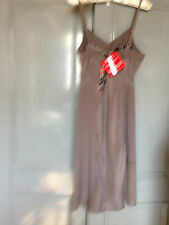 Jasmine Guinness Grey Silk Dress 8/10 NWT