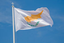 "BIG Large Huge CYPRUS Greek Flag 72 x 120 cm 2.5"" x 4"" feet"