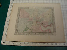 ORIGINAL Hand Colored 1860 Mitchell Map: 15 1/4 x 12 1/2--plan of BALTIMORE