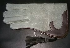 New Nubuck Leather Double Skinned Falconry Glove 12 Inches Long Standard Size.